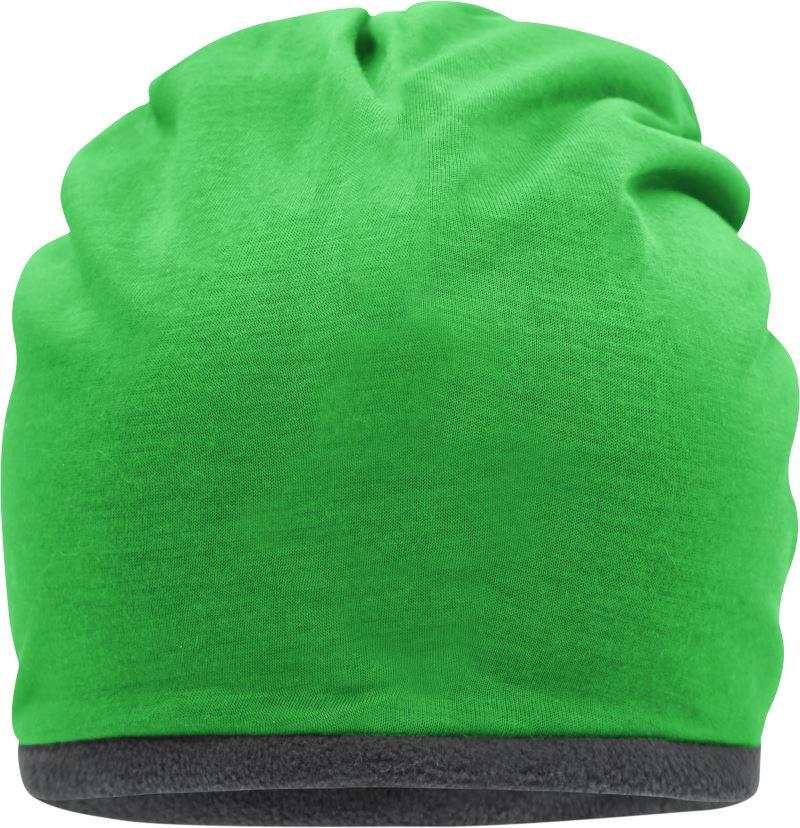 Mütze mit Fleece-Kontrastabschluss